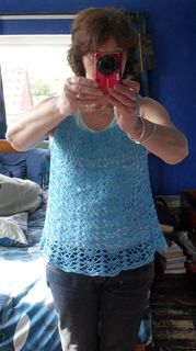 happy customer wearing my top