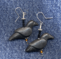Crow earrings 500