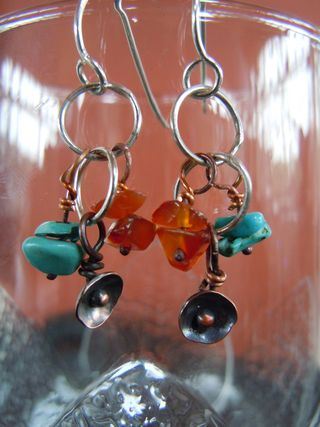 Poppy challenge earrings