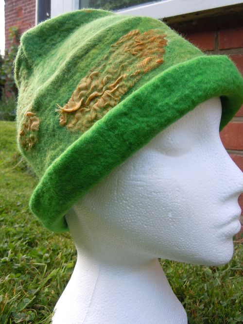 Norwich City wet felted hat
